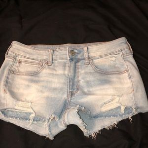 AE light jean shorts